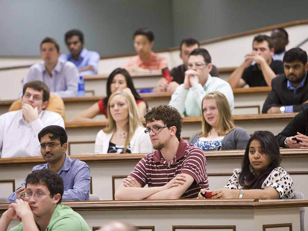 Group of students in a lecture hall